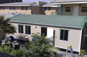 Image of mobile homes. Kwikspace has prefab houses for sale and for hire that are manufactured in an environmentally friendly factory in Gauteng, South Africa.