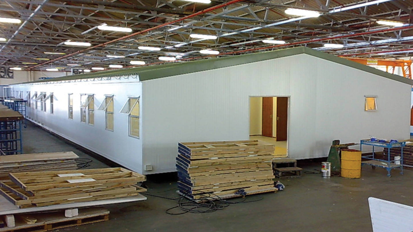 Prefab houses are put together quickly and simply with Kwikspan.