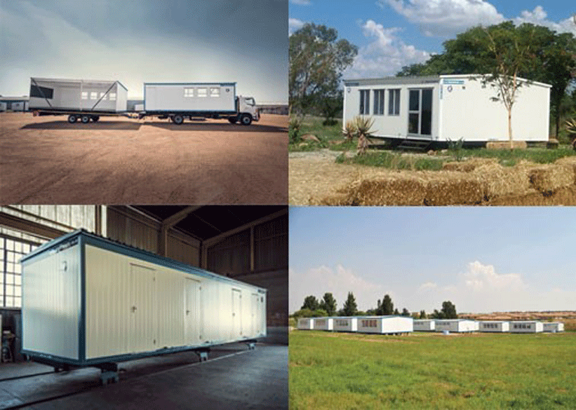 Small prefab buildings are easy to disassemble and relocate.