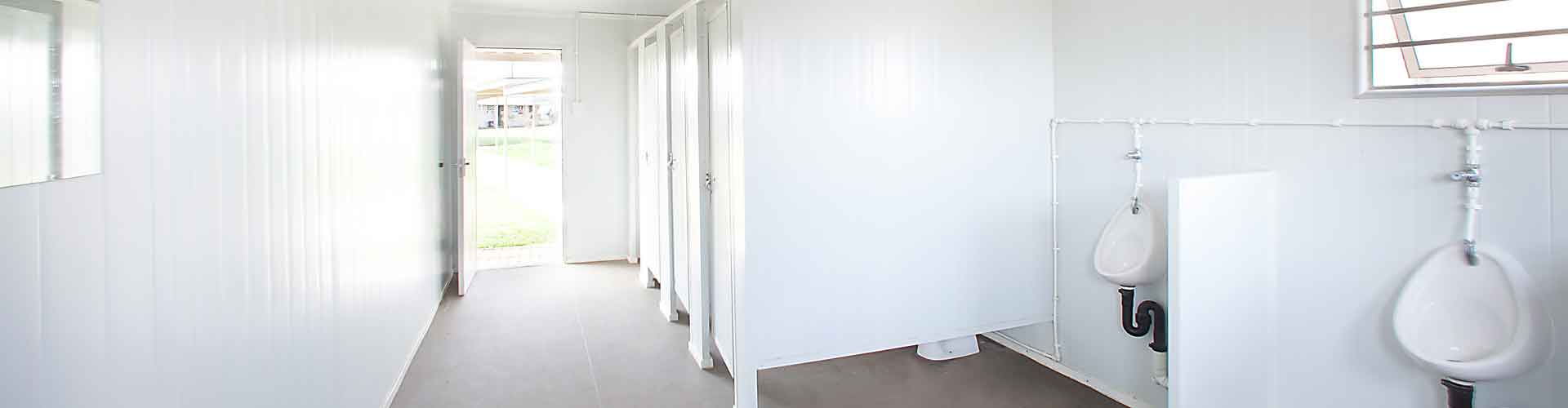 Kwikspace's prefabricated and modular buildings are ideal for ablutions.